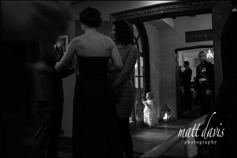 Black and white wedding photos at Stanton House