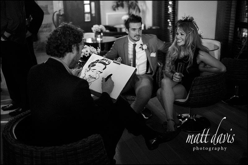 Wedding caricaturist at Stanton House Wedding