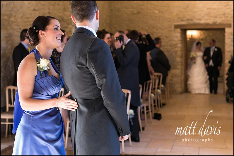 Observational wedding photography at Kingscote Barn by Matt Davis