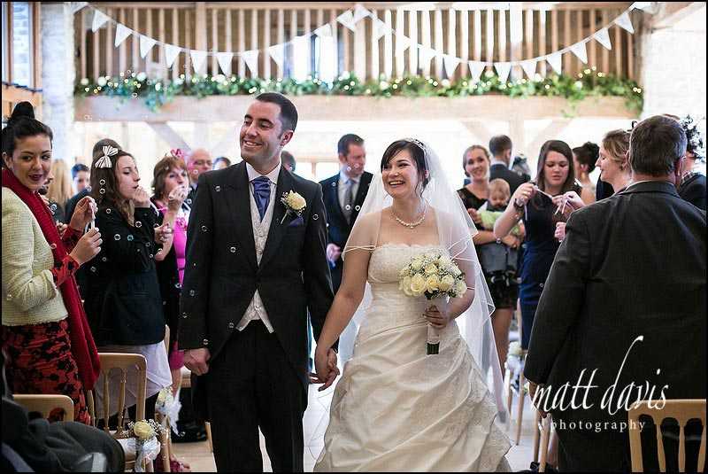 You can even have great weather for Winter weddings at Kingscote Barn