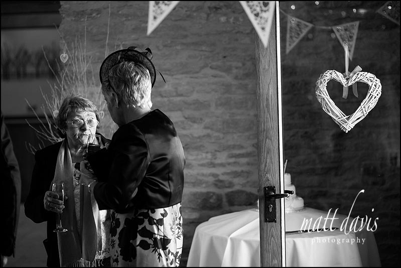Black and white wedding photos at Kingscote Barn