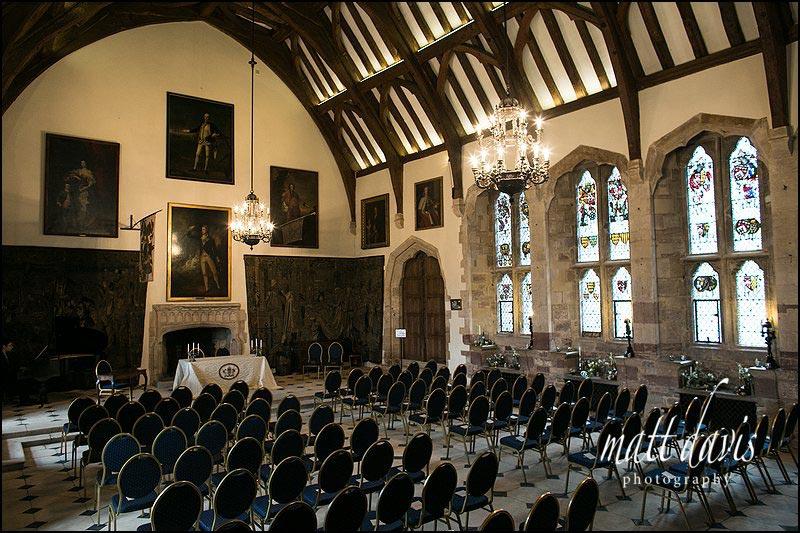 Wedding ceremony room at Berkeley Castle