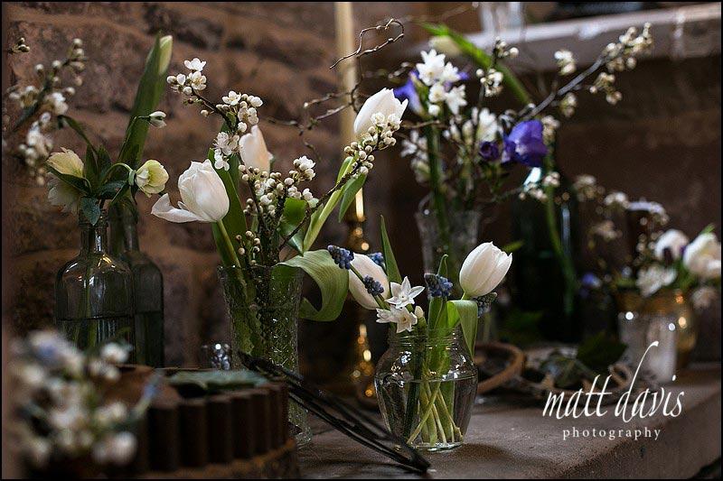 Wedding flowers by Sorori Design at Berkeley Castle