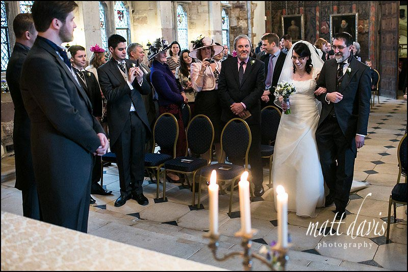 Wedding ceremony at Berkeley Castle