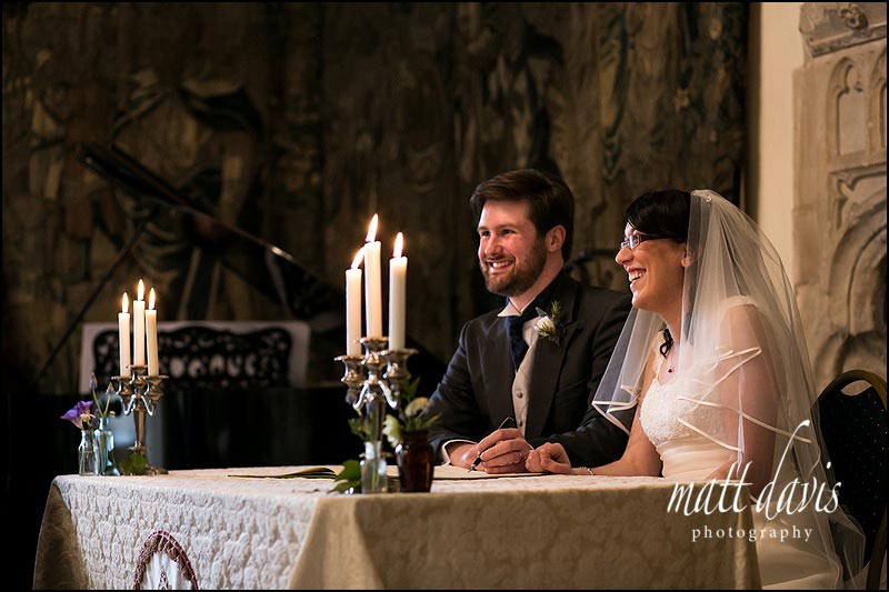 Beautiful wedding photography at Berkeley Castle
