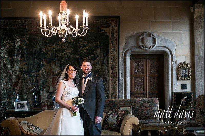 Stylish couple photo at Berkeley Castle
