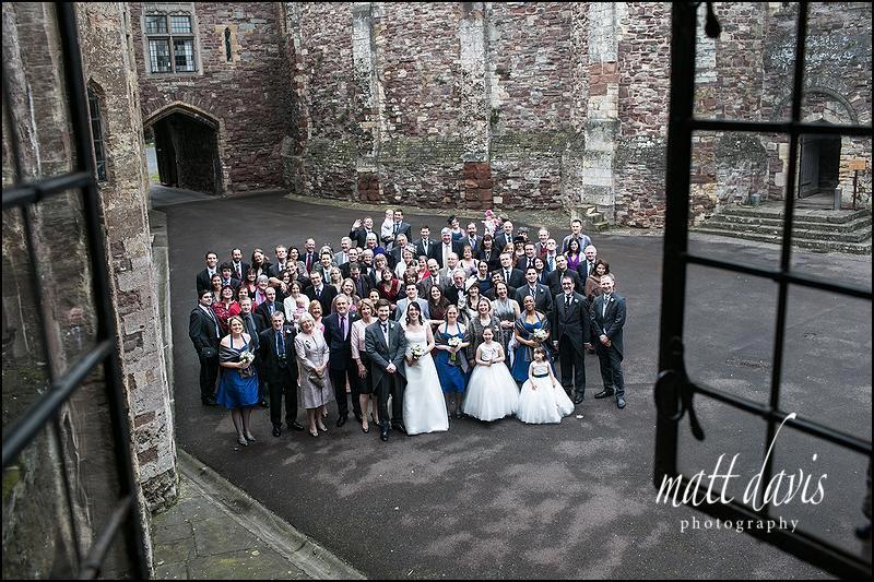 Group wedding photos at Berkeley Castle