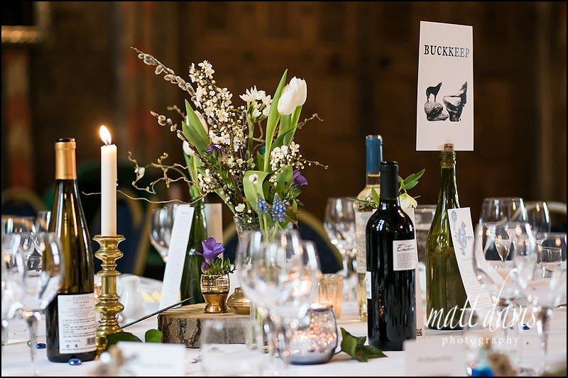 wedding table styling at Berkeley Castle