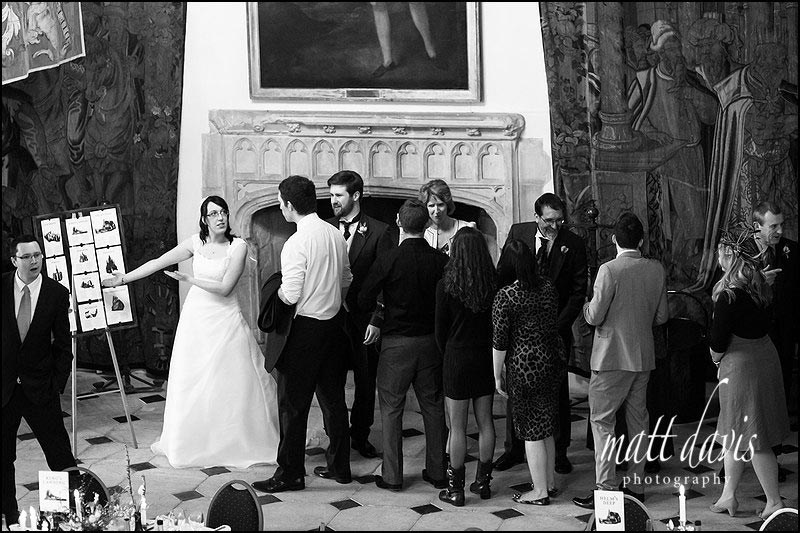 Wedding receiving line at Berekely Castle