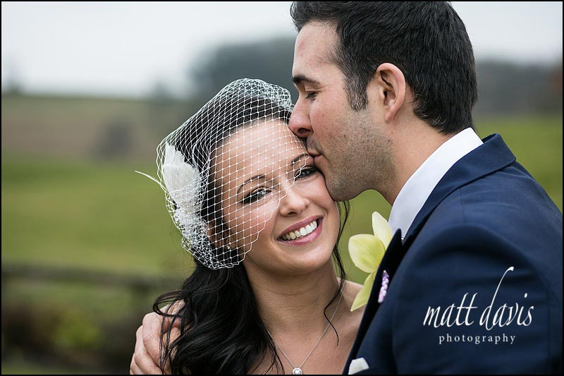 Couple portrait from a Wedding at Kingscote Barn