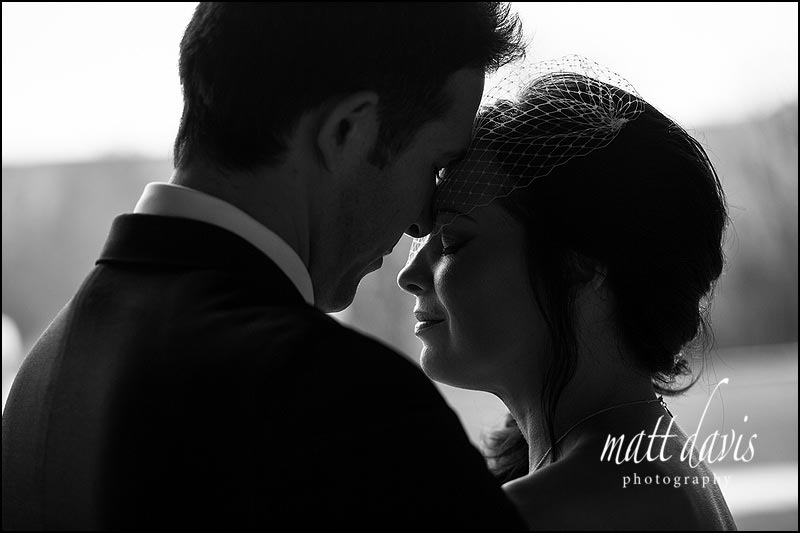 Black and white photos from a Wedding at Kingscote Barn