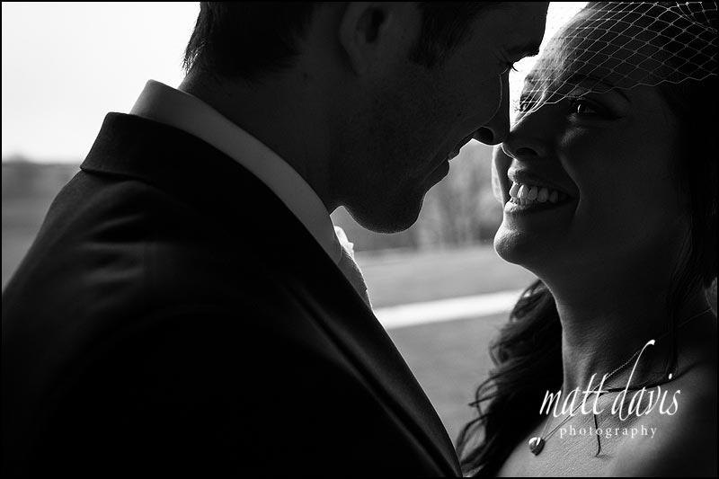 Black and white photography at a Wedding at Kingscote Barn