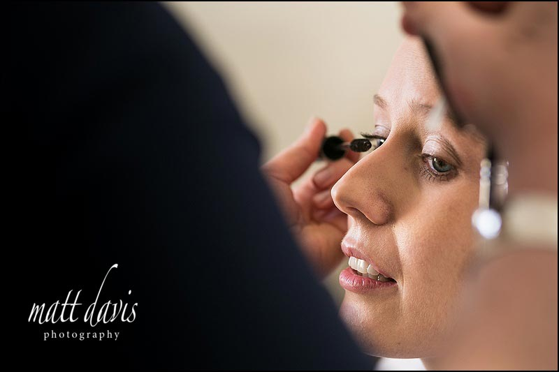 Wedding make-up at Manor House Hotel