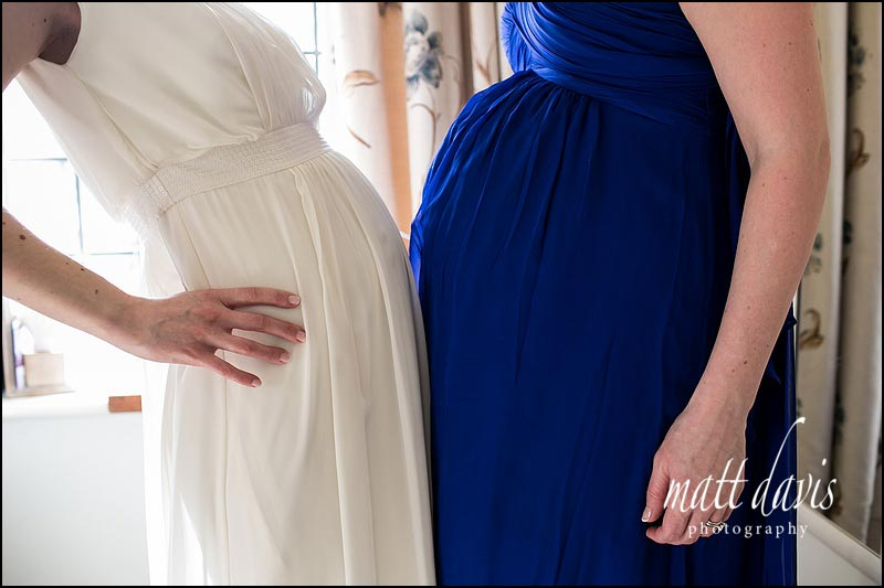 Wedding dress for pregnant bride and bridesmaid