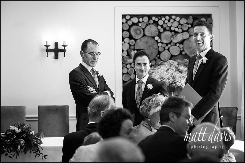 Nervous Groom before the wedding at Manor House Hotel
