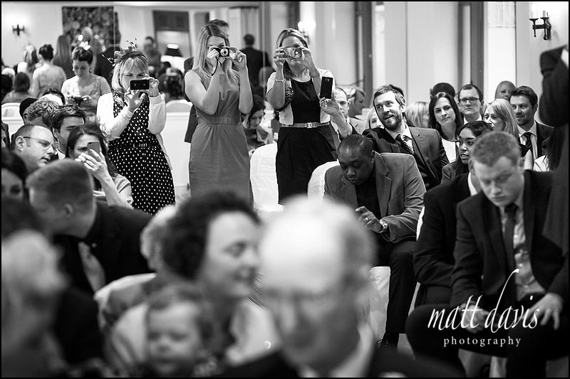 Black and white wedding photos at Manor House Hotel, Gloucestershire