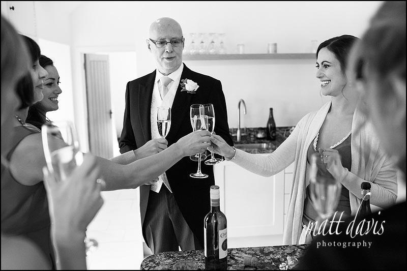 Reportage wedding photography at Kingscote Barn