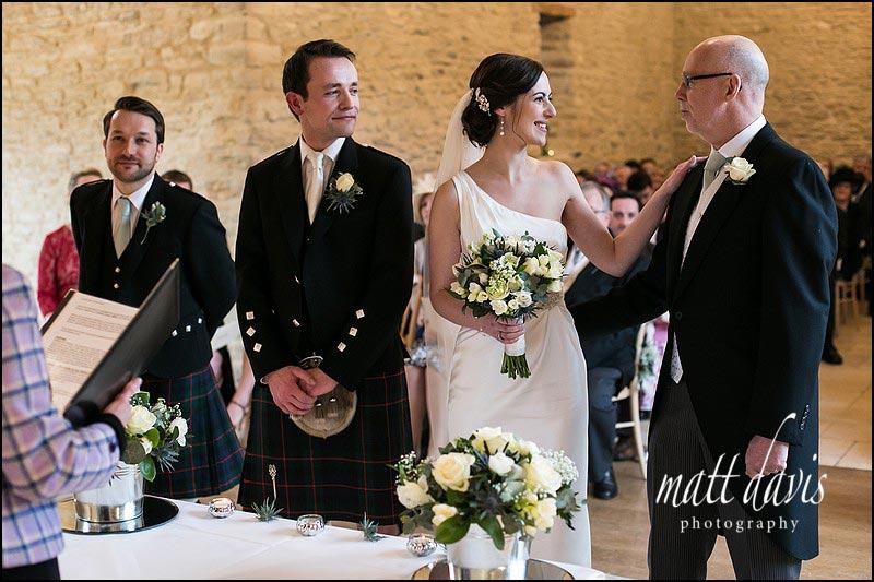 Natural photos of Weddings at Kingscote Barn