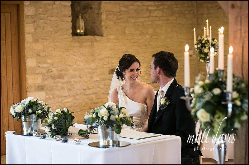 Discrete photography during Weddings at Kingscote Barn