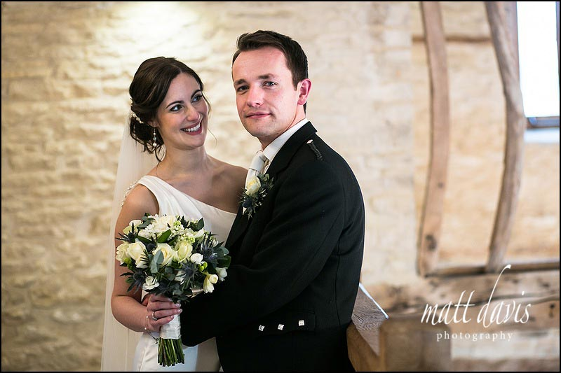 Photos inside due to wet weddings at Kingscote Barn