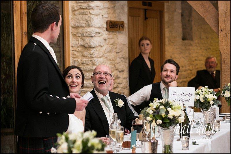 Natural wedding speech photos by photographer Matt Davis
