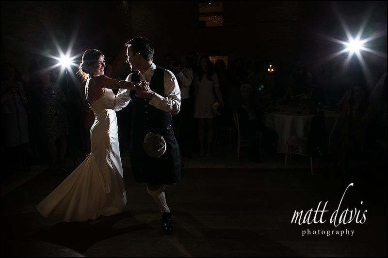 First dance photos from weddings at Kingscote Barn