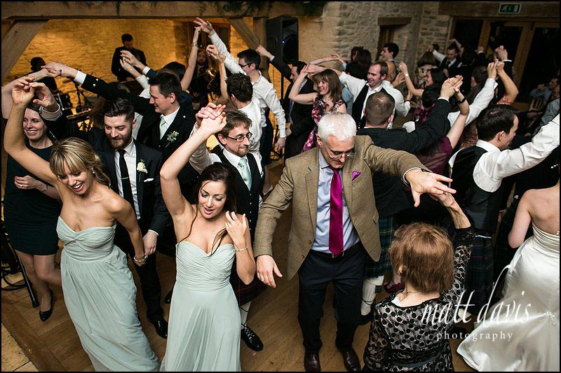 Scottish ceilidh at Kingscote Barn Gloucestershire