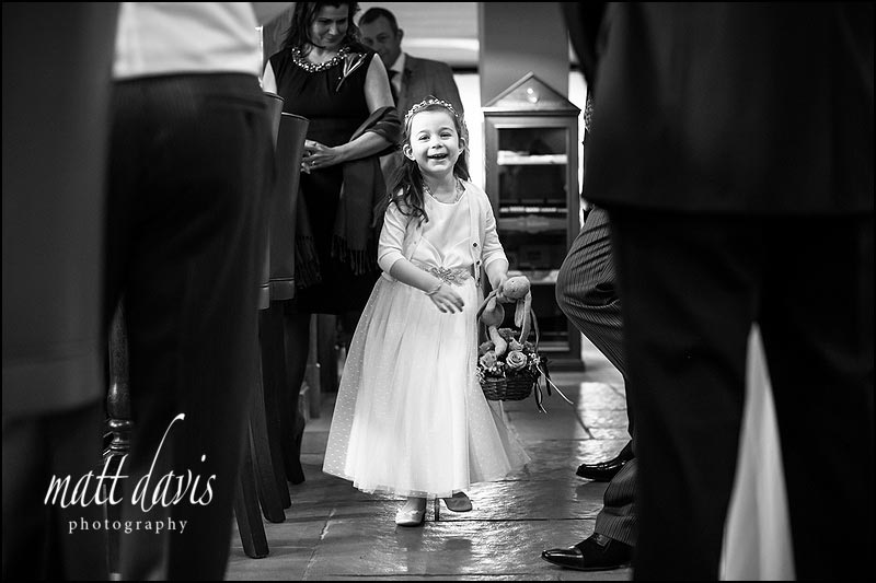 flower girl  at Ellenborough park wedding