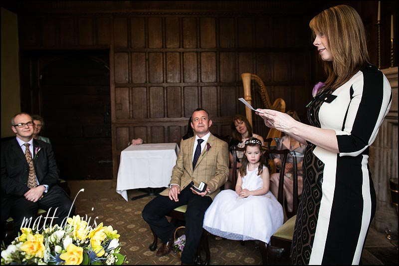 A reading from at a Civil Partnership at Ellenborough Park