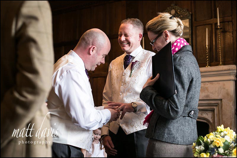 Photos of a Civil Partnership at Ellenborough Park