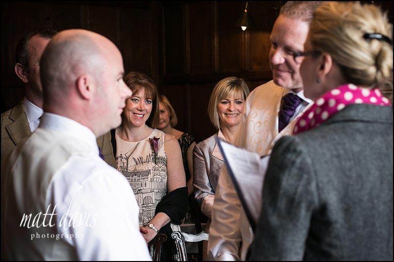Guests watching a Civil Partnership at Ellenborough Park