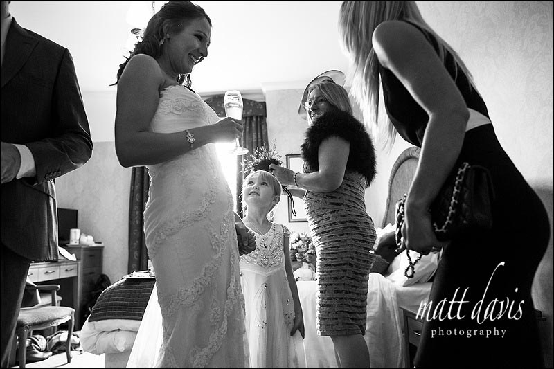Documentary wedding photography at Dumbleton Hall