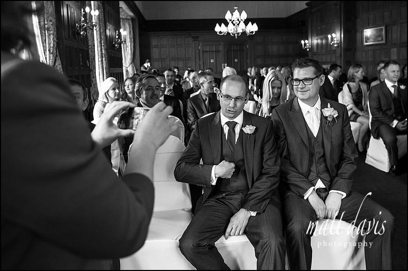 Groom and Best Man await start of wedding ceremony at Dumbleton Hall