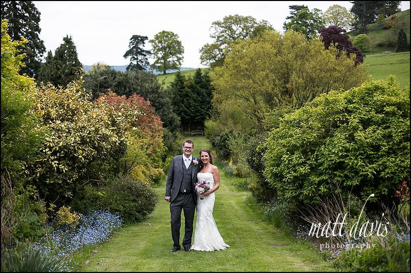 Dumbleton Hall wedding photos taken in the beautiful gardens