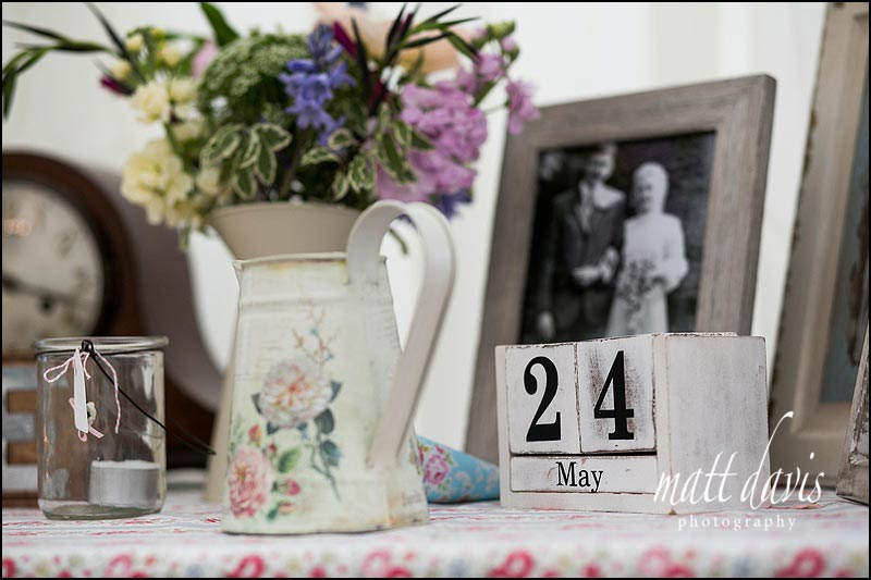 wedding details with a vintage theme