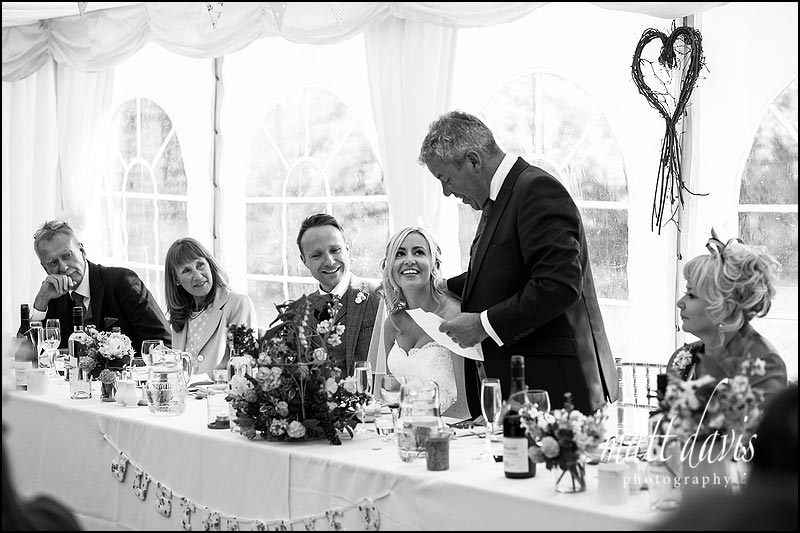 Father of the brides speech at Friars Court wedding