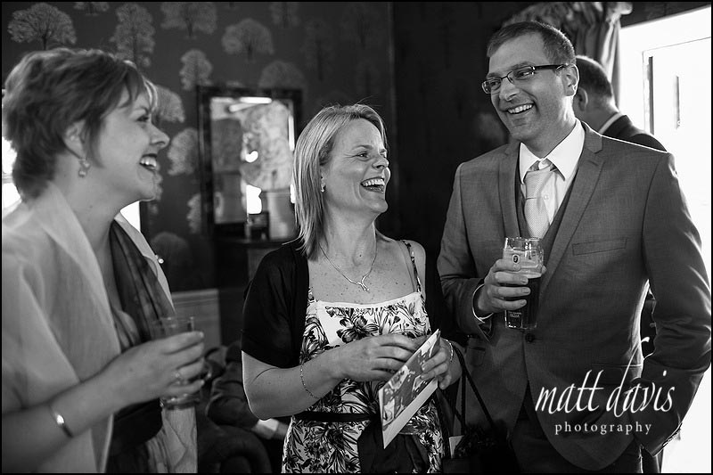 wedding guests at the Hare and Hounds, Gloucestershire wedding venue