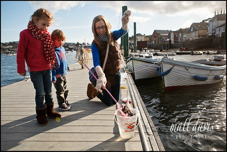 Holiday photography tips when crabbing in Cornwall