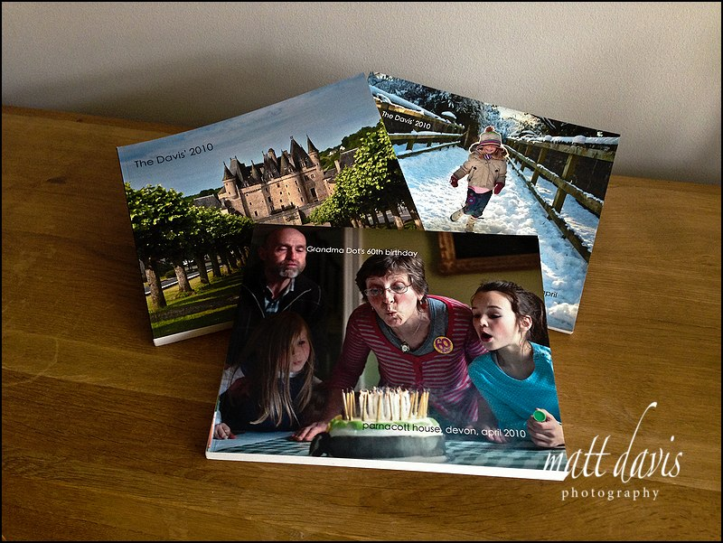 Photo books for presenting holiday photos