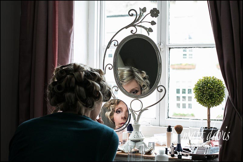 Documentary wedding photography of bridal preps in Gloucestershire