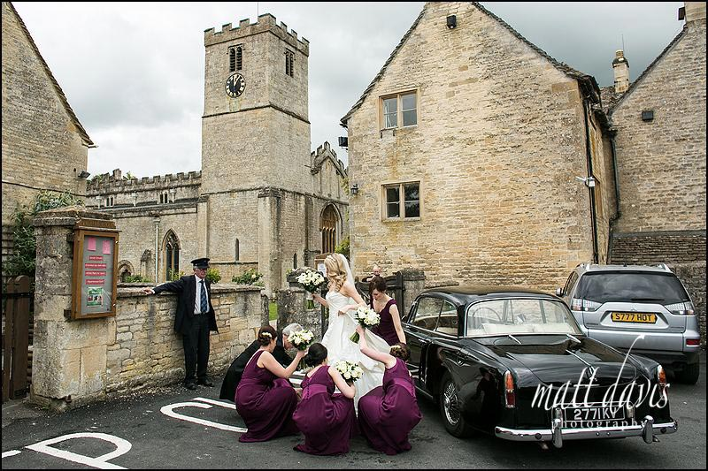 Wedding Photography at St Mary's church, Bibury, Gloucestershire