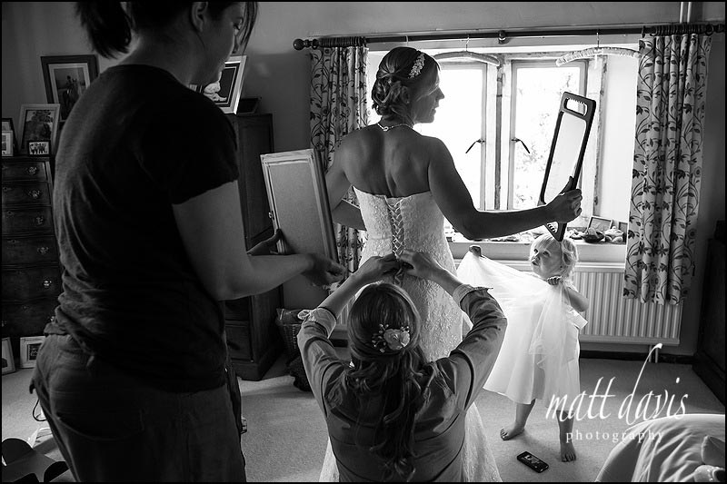 Documentary wedding photography in Painswick, Gloucestershire