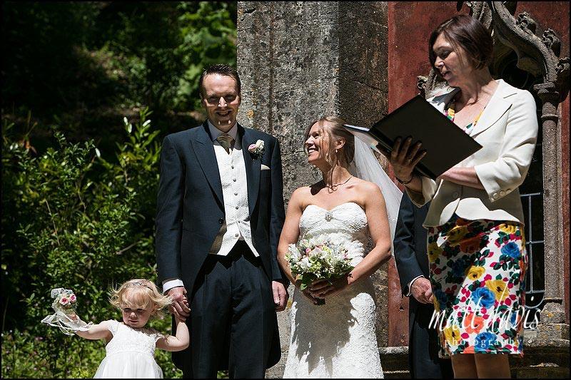 Bride & groom at a Rococo Gardens wedding