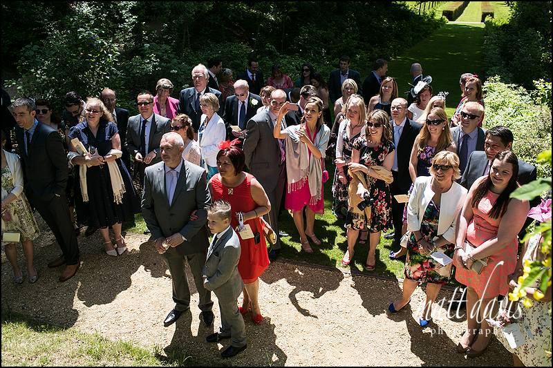 Wedding guests at Rococo Gardens