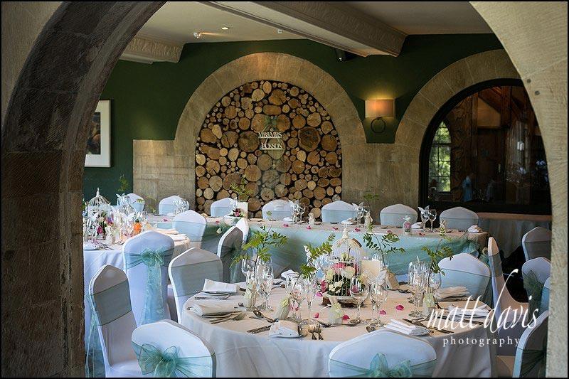 The Bear of Rodborough wedding reception tables