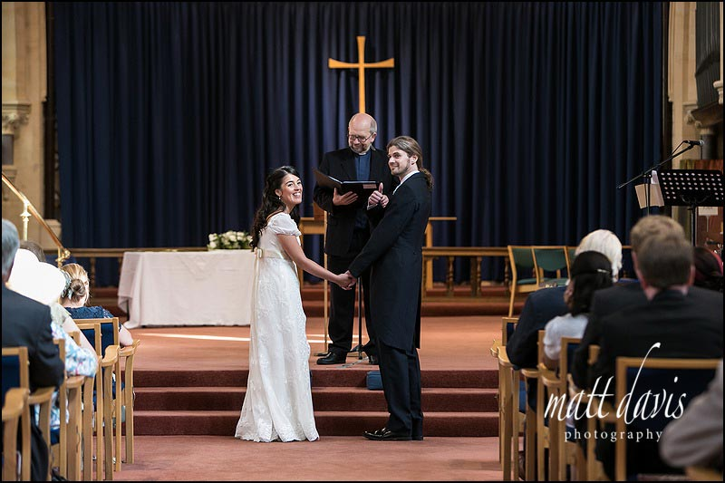 Wedding ceremony at St. Matthew's Church Cheltenham