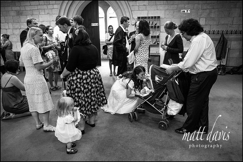 Black and white reportage wedding photography by Matt Davis Photography in Cheltenham