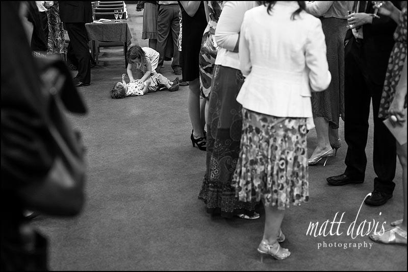 Black and white documentary wedding photography in Cheltenham by Matt Davis