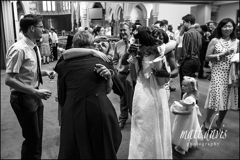 Black and white documentary wedding photos in Cheltenham by Matt Davis