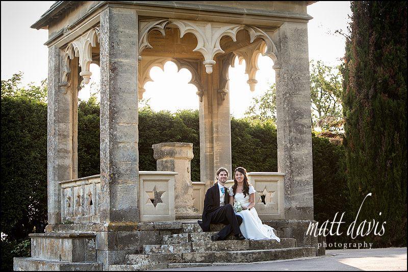 The outside wedding ceremony venue at Ellenborough Park, Cheltenham, Gloucestershire